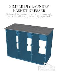 Square Laundry Hamper by Simple Diy Laundry Basket Dresser