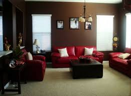 living room a touch of exclusivity chocolate brown and red living