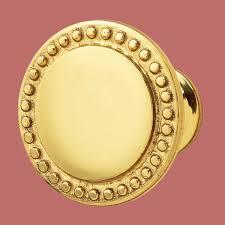 cabinet knob bright solid brass beaded 1 1 2