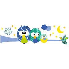dessin pour chambre de bebe dessin pour chambre de bebe 4 sticker enfant xl hiboux bleu