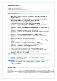 Core Java Resume Bharath Hadoop Resume