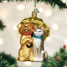 raining cats u0026 dogs ornament old world christmas tree ornaments