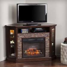 Corner Electric Fireplace Southern Enterprises Redden Corner Electric Fireplace Tv Stand
