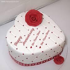 anniversary cake white anniversary cake with names wishes greeting card