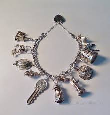 antique charm bracelet charms images Antiques atlas rare vintage sterling silver charm bracelets jpg