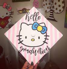 hello graduation hello graduation hello grad cap with pink and white