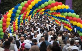 largest eid celebration in europe as 100 000 muslims gather in