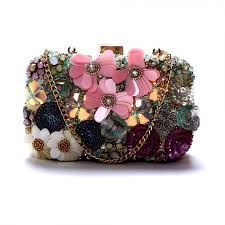 designer clutches get diwaah crafted multi embroidered box clutch at best
