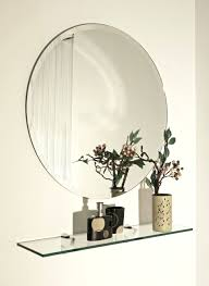 wall mirrors ainsworth round beveled wall mirror bathroom wall