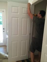 convert bifold doors to french doors easily closet conversion