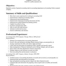 resume objective exles for accounting clerk descriptions in spanish office clerk resume pdf sle customer service for accounting