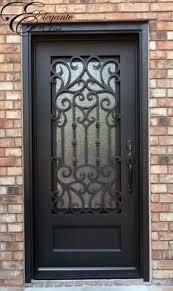 cascade iron front door beautiful wrought iron door with grille