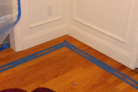 Laminate Floor Spacers Gorgeous Shiny Things Painted Faux Inlay Floor Border With
