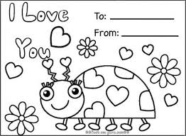 stylish design ideas valentine card coloring pages printable