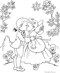 valentine coloring pages kids 044