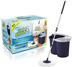 twist and twist and shout mop the original push spin mop