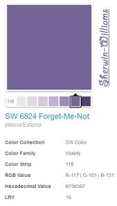 julie ann brady blog on sherwin williams sw6824 forget me not