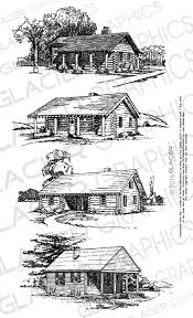 4 cabin illustrations vintage cabin clipart vector copyright free
