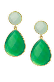 green drop earrings two toned drop earrings saachistyle