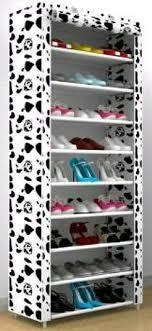 Jual Rak Sepatu Portable 10 Susun 9 Ruang Kain Non Woven di lapak