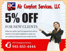 Air Comfort Services Promotions U0026 Discounts In Sarasota Florida Air Comfort Services Llc