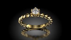 inel diamant inel de logodna cu diamant william din aur galben verighete