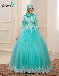 islamic wedding dresses aliexpress buy 2017 muslim wedding dresses with high