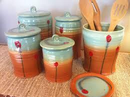 orange kitchen canisters handmade kitchen canisters within kitchen canister top 10