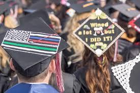 customized graduation caps gallery palomar students express individuality at graduation