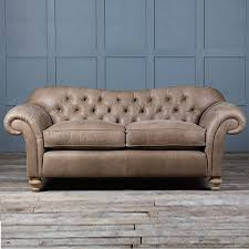 Square Chesterfield Sofa by Old Bessie Leather Chesterfield Sofa By Authentic Furniture