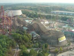El Toro Roller Coaster Six Flags Viper Six Flags Great America 1995 Eisenbahn Achterbahn
