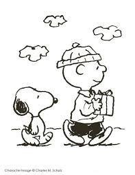 charlie brown snoopy christmas coloring cartoon