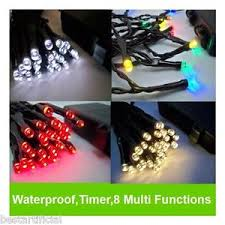 outdoor battery christmas lights led outdoor waterproof battery christmas lights string fairy timer 8