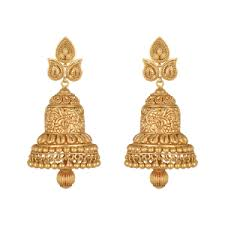 gold erring buy lavanya jhumki gold earring for online best gold earrings