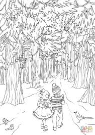 amazing decoration forest coloring pages snow white in page for
