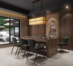 japanese dining room 01 3d model cgtrader