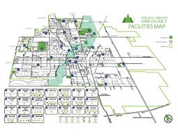 Chicago City Limits Map by Facilities Map U2039 Chicago Heights Park District
