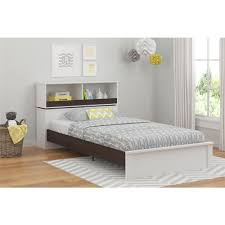 cosco leni white u0026 light slate gray twin storage bed 5960321com