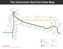 Expo Line Map Ctl Skytrain System Map Places To Visit Pinterest Train Station
