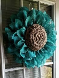 burlap sunflower wreath burlap sunflower wreath turquoise burlap flower wreaths burlap