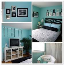 Tv On Wall Ideas by Bedroom Cool Turquoise Wall Paint In Small Teenage Bedroom Idea
