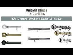 Extendable Curtain Pole How To Assemble Quickfit Curtain Rods And Poles
