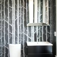 Best Wallpaper Bathrooms Images On Pinterest Room Bathroom - Designer wallpaper for bathrooms