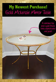 spring purchasing u2013 my new gold mirrored table from develop com
