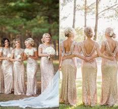 gold sequin bridesmaid dress sleeve floor length gold - Gold Color Bridesmaid Dresses