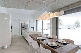 dining table lighting kitchen concrete interior design in osice