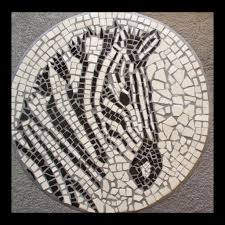 How To Make A Mosaic Table Top Use Field Tiles To Make A Zebra Mosaic Table 7 Steps With Pictures