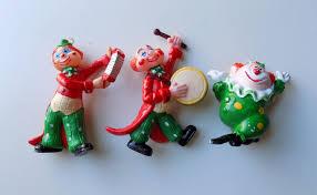 50s clown ornaments vintage mold mid century