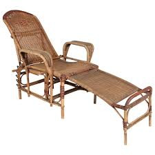 Reclining Chaise Lounge Chair Art Deco Reclining Wicker Lounge Chair With Detachable Foot Rest