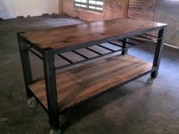 Kitchen Island Made From Reclaimed Wood Kitchen Islands On Casters Foter